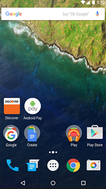 Discover Icons on Android Screen
