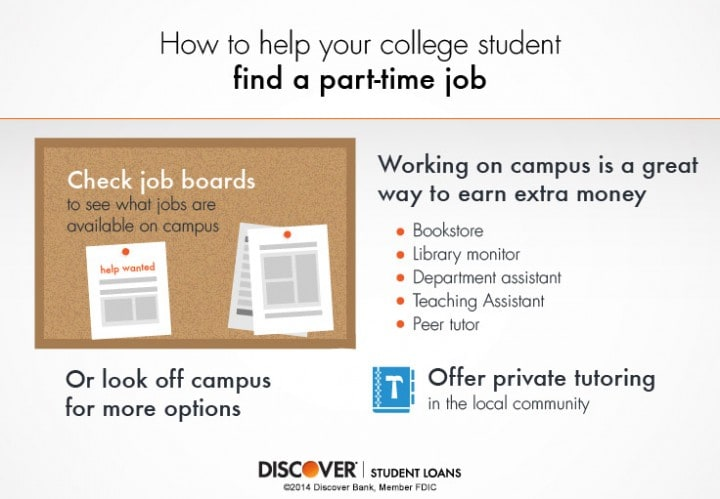 Help Your College Student Find A Part Time Job-Tips