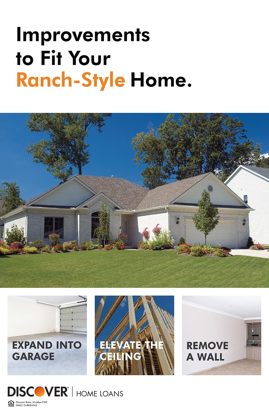 examples of improvements that fit a ranch style home