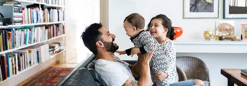 First time home buyer spending time with his children before making an offer on a house