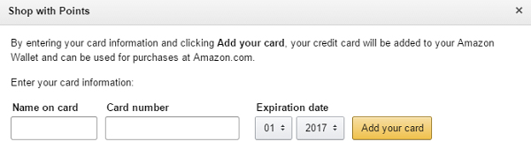 add card information at amazon.com