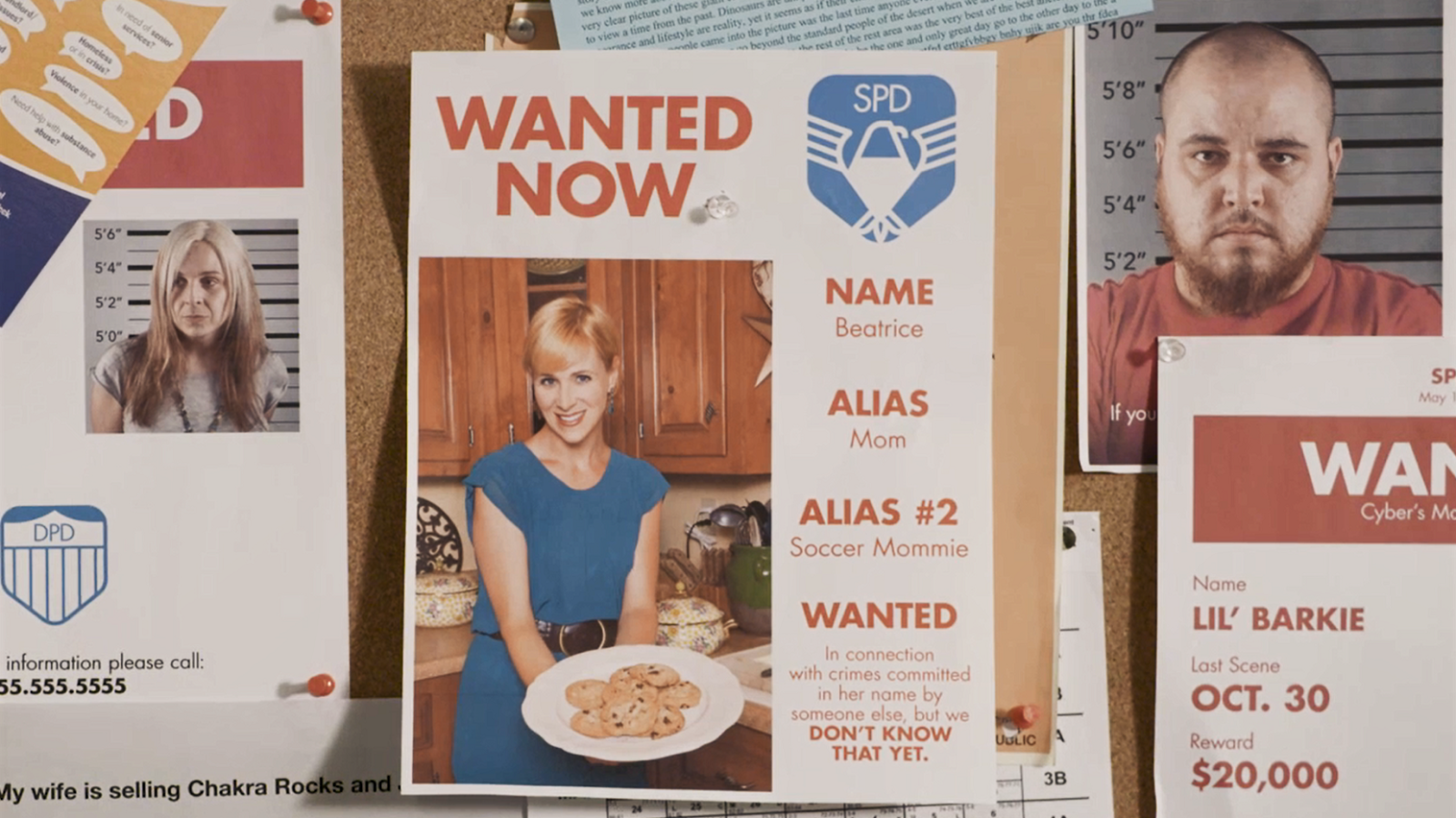 photo of innocent Mom on a police Wanted board