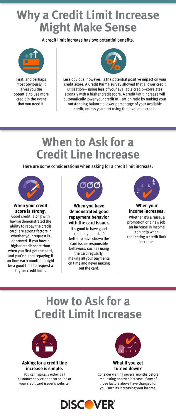 When Should You Request a Discover Credit Line Increase?  Discover