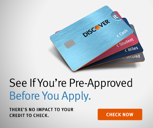 See If You're Pre-Approved Before You Apply. There's no impact to your credit to check. Check Now