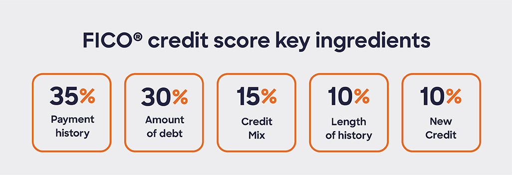 Key ingredients contributing to your FICO credit score