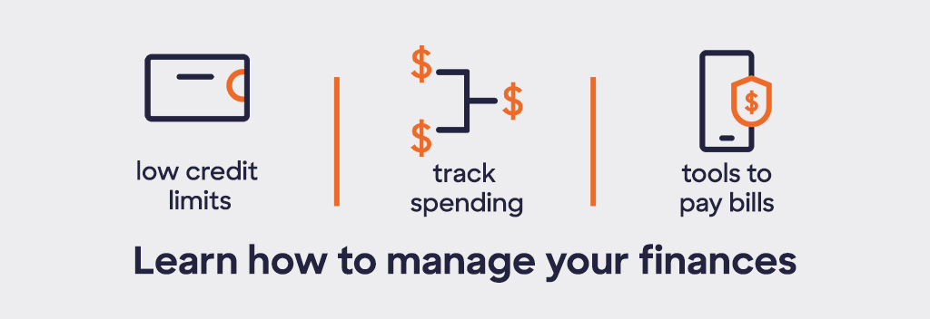 Learn how to manage your finances. Low credit limits, track spending and tools to pay bills.