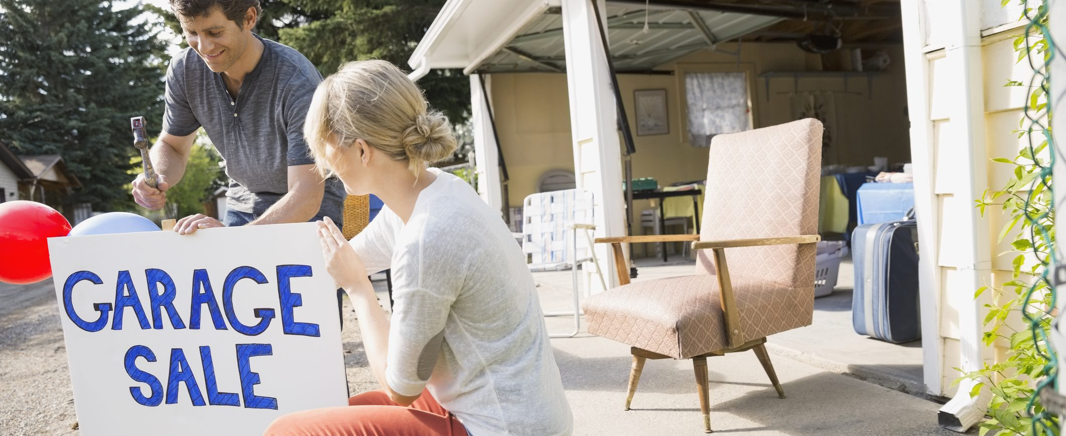 Clear out the clutter in your home by selling it--and focusing on your goal